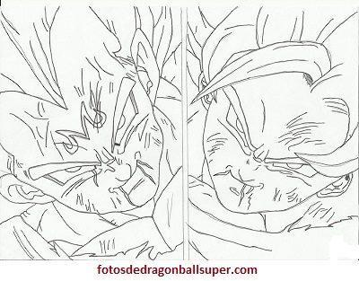 4 Imagenes De Goku Y Vegeta Para Colorear En Super Sayayin 2 Paperblog