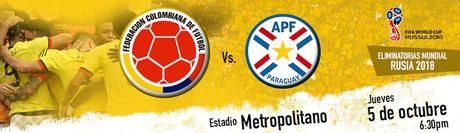 Ver Partido Colombia vs Paraguay EN VIVO Gratis Por Internet Hoy 05/10/2017