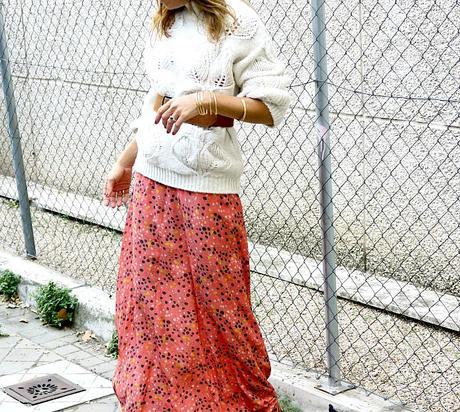 jersey blanco xxl y falda larga