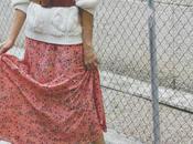 jersey blanco falda larga