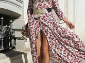 vestido largo flores blazer vichy