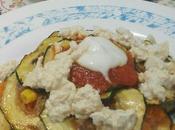 (Receta Vegetariana) Franky Pirámide calabacín, carrueco tofu