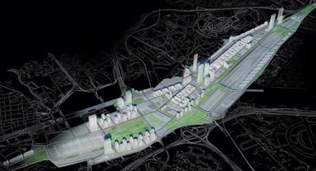 Plan Parcial de Reforma Interior Prolongación de la Castellana, proyecto de J.Mª Ezquiaga 2009 para DUCH
