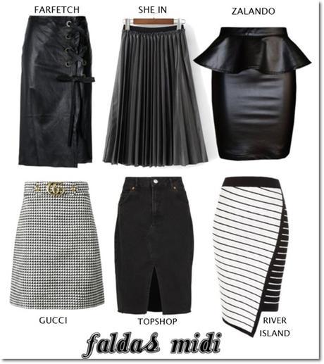 Faldas Midi para Otoño