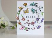 Rainbow Floral Card colored with Zigs