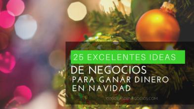 25 Excelentes Ideas de Negocios para Ganar Dinero en Navidad