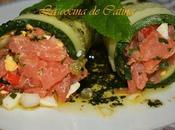 Rollitos pepino tartar salmón