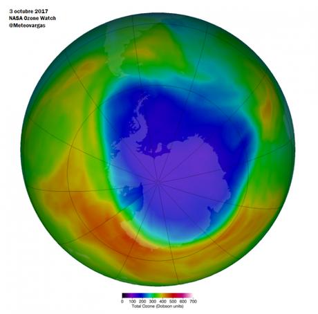Se ha registrado el menor tamaño del agujero de la capa de ozono y el más débil desde 1988
