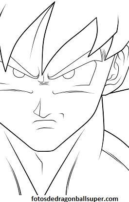 4 Dibujos Faciles De Goku Para Dibujar Paso A Paso En Fase 3 Paperblog