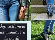Diy: customiza vaqueros moda