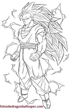 Los 4 Mejores Y Faciles Dibujos De Goku Para Colorear Gratis Paperblog