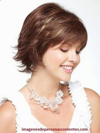 cortes de cabello para mujeres de pelo corto redonda