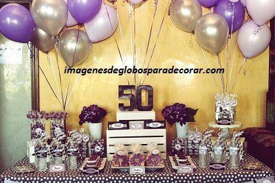 Decoracion con globos para 50 anos - Decoracion con globos 50 anos ...