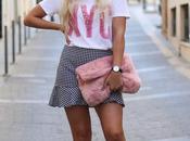 Falda vichy camiseta pelo