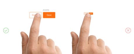 El tamaño recomendado del botón call to action 9 mm