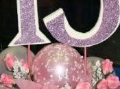 Cuatro imagenes modernos adornos globos para años