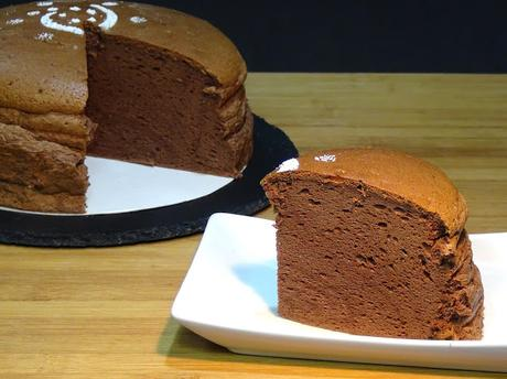 Cheesecake o tarta de queso japonesa de chocolate (Súper esponjosa)