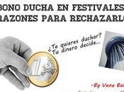 Bono ducha festivales: motivos para rechazarlos