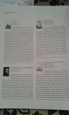 Uno de los libros recomendados del número de octubre de la revista Quimera