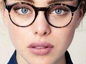 Nuevo look chicas lindas ojos azules gafas hipster