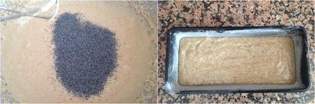 Bizcocho fácil de avena, naranja y semillas de amapola