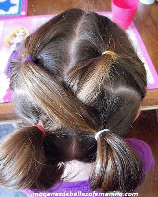 ver peinados faciles y bonitos para niña cruzado