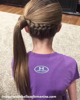 ver peinados faciles y bonitos para niña largo