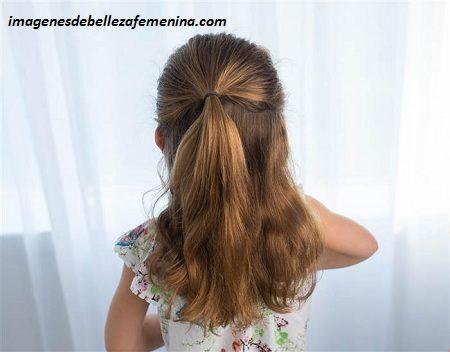ver peinados faciles y bonitos para niña cola