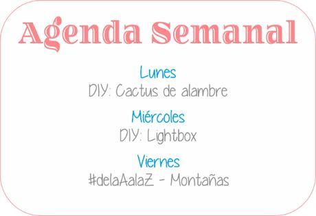 Agenda Semanal 16/10 - 22/10