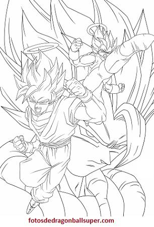 dibujos de fusiones de dragon ball z colorear