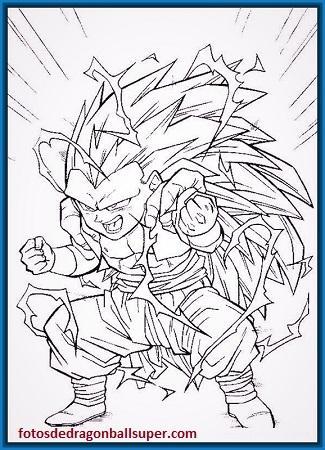 dibujos de fusiones de dragon ball z ssj3