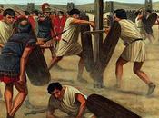 Entrenamiento soldado romano armas.