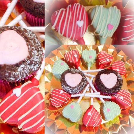 Modelados, cupcakes, cake pops y oreos con chocotransfer para una pedida de mano