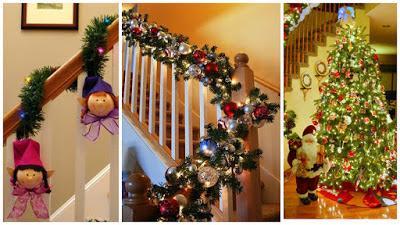 decoración-navideña-escaleras
