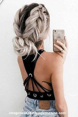 peinados faciles para cabello largo recogido trenzas
