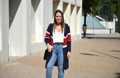 Outfit | Tricolor cardigan
