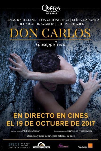 19 OCTUBRE EN CINES: DON CARLOS, DESDE OPÉRA DE PARIS - BASTILLE