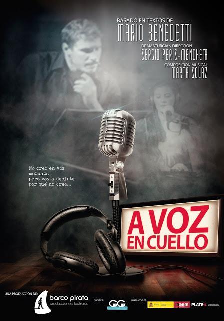A voz en cuello, Sergio Peris-Mencheta y Marta Solaz homenajean a Mario Benedetti. Todos los jueves de noviembre en el Teatro del Barrio