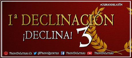 Ejercicio en línea: Primera Declinación Latín - ¡Declina! 3