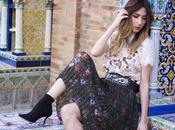 Zara total look botines calcetin