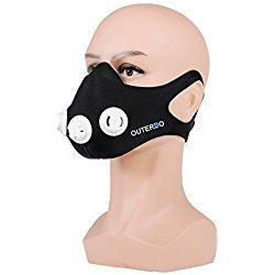 OUTERDO Mascara de Entrenamiento Deportivo Simulación de Altura, Mascara Ajustable 2.0 Altitud Entrenamiento Anaeróbico M