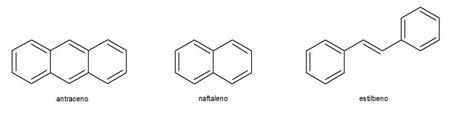 moléculas de naftaleno antraceno estilbeno