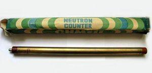Tubo 3He para detectar neutrones