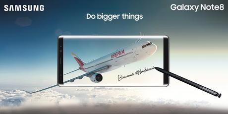 Iberia da la bienvenida a bordo al Samsung Galaxy Note 8 #Note8abordo @SamsungEspana