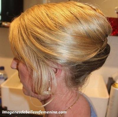 peinados de noche para señoras de 40 años moño