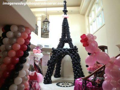 adornos de globos para quince años torre