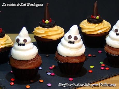 Muffins de chocolate especiales para Halloween