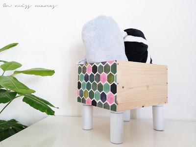 DIY Caja para mantas