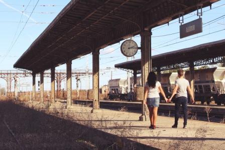 Preboda en una estación