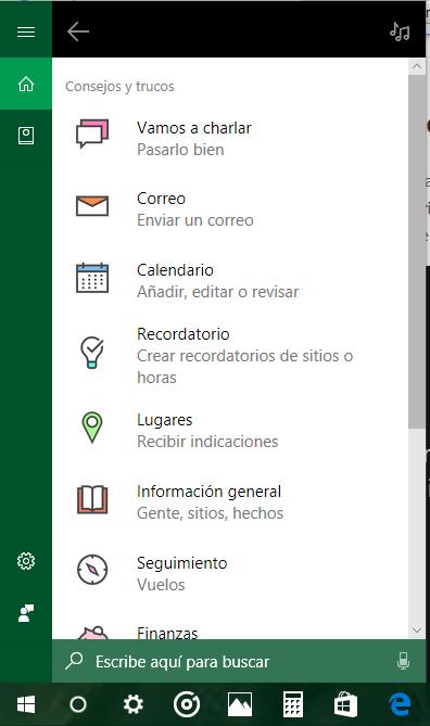 Cómo aprovechar el asistente personal Cortana de windows 10